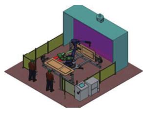 喷涂机器人旋转系统